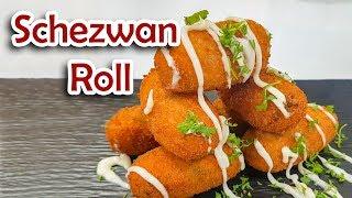 Schezwan Sauce Rolls Chinese Appetizer Snacks Recipe सेजवान रोल्स  रेसिपी