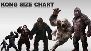 King Kong Sizes and Movie Apes