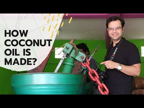 How Coconut Oil From Copra is made or produced? Production procedure In Factory | By Kush Johar