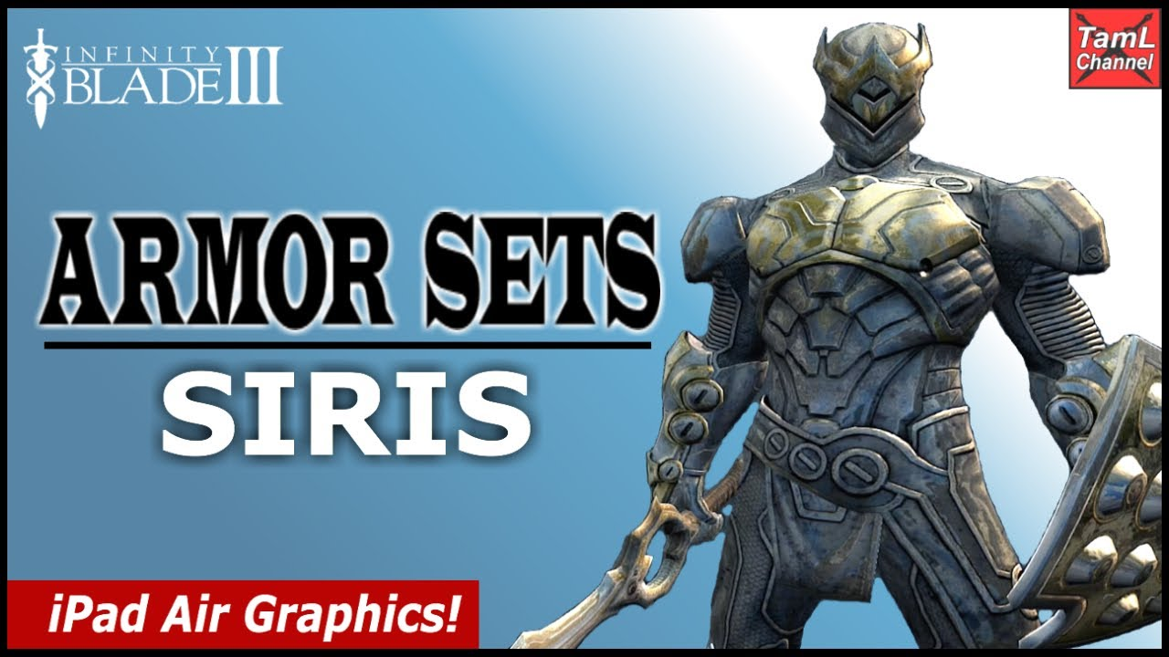 Infinity Blade 3 All Armor Sets For Siris Part 1 Youtube