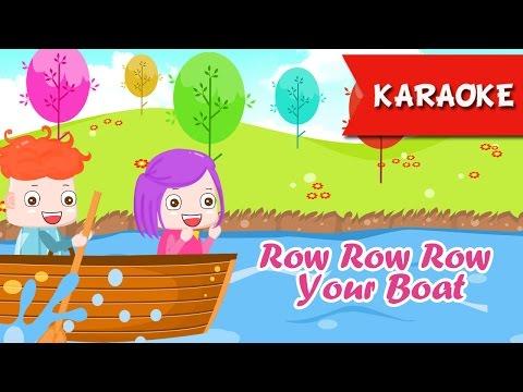 Row Row Row Your Boat Karaoke with lyrics | Nursery Rhymes Songs