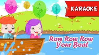 Row Row Row Your Boat Karaoke with lyrics | Nursery Rhymes Songs