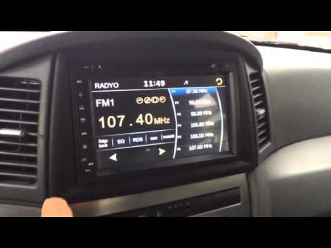 Jeep Cherokee Interior >> Grand Cherokee Jeep Double din, Multimedya, - YouTube