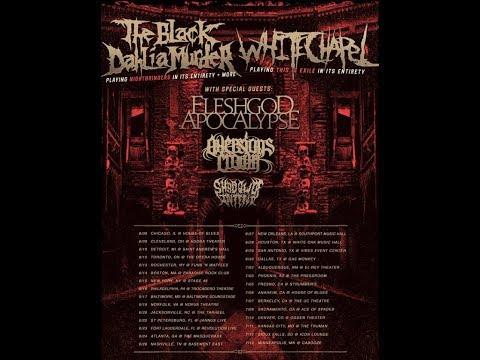 The Black Dahlia Murder + Whitechapel and Fleshgod Apocalypse and more tour ...!