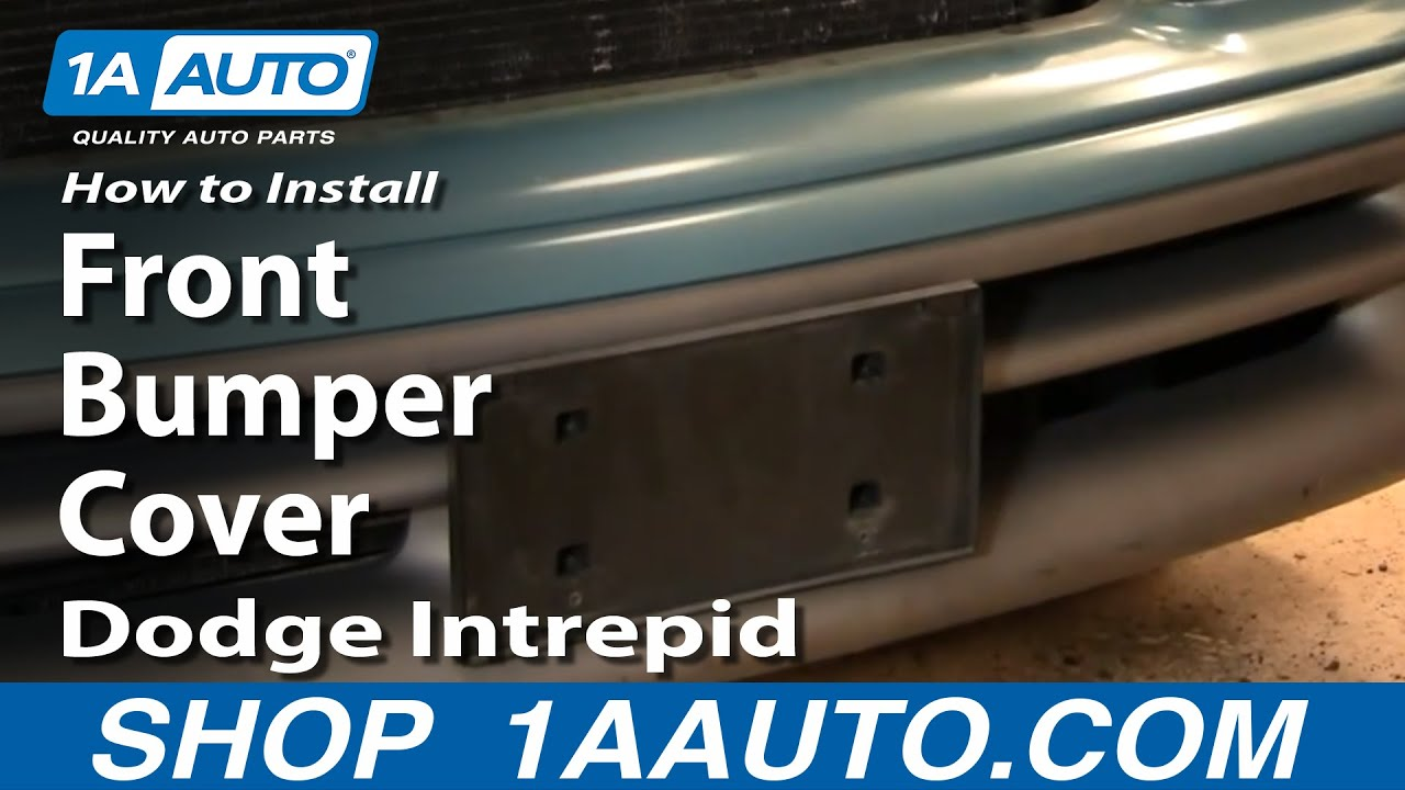 How To Remove Install Front Bumper Cover Dodge Intrepid 93