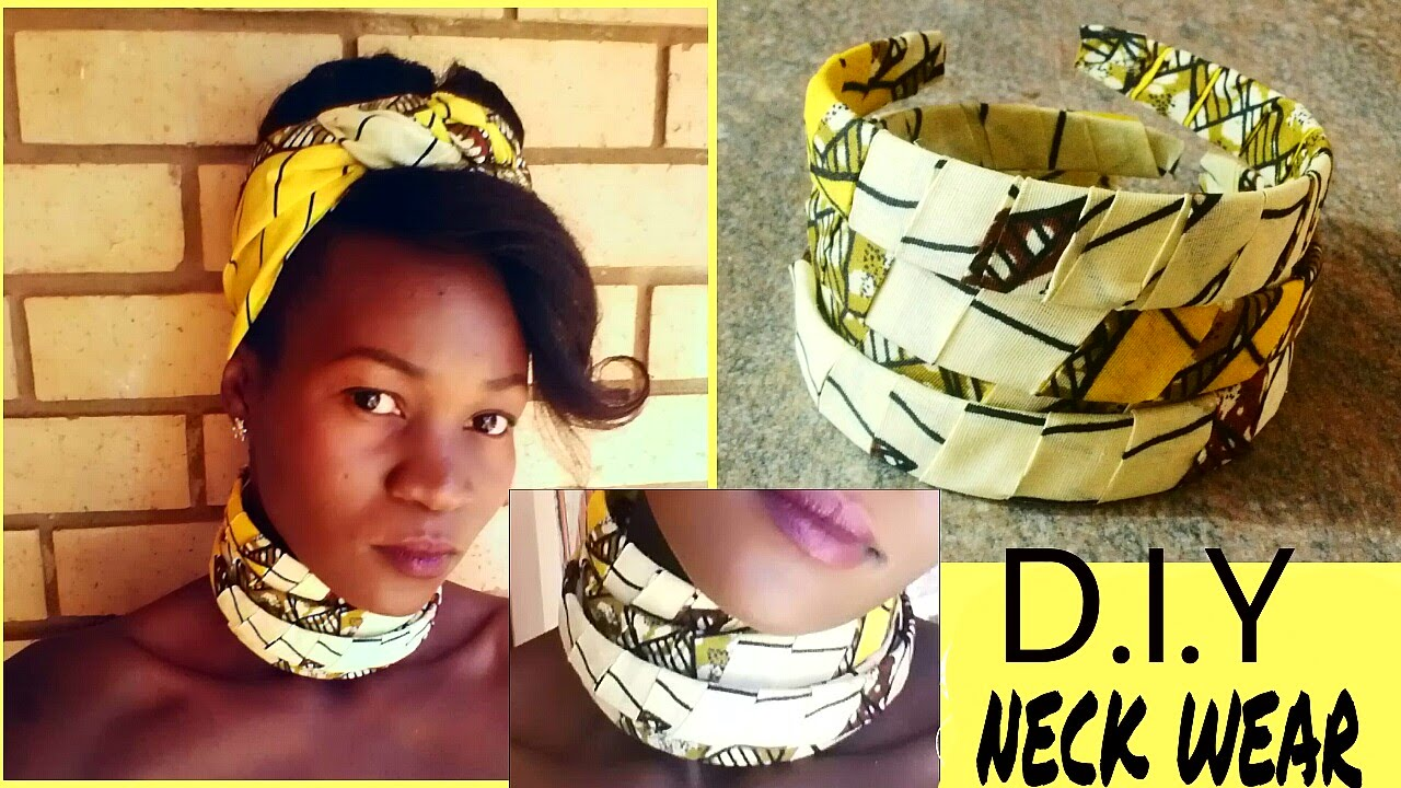 Diy statement african print ankara neckwear necklace for How to make african jewelry crafts