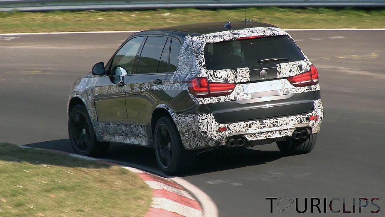 2015 BMW X5M F85 spied testing on the Nürburgring