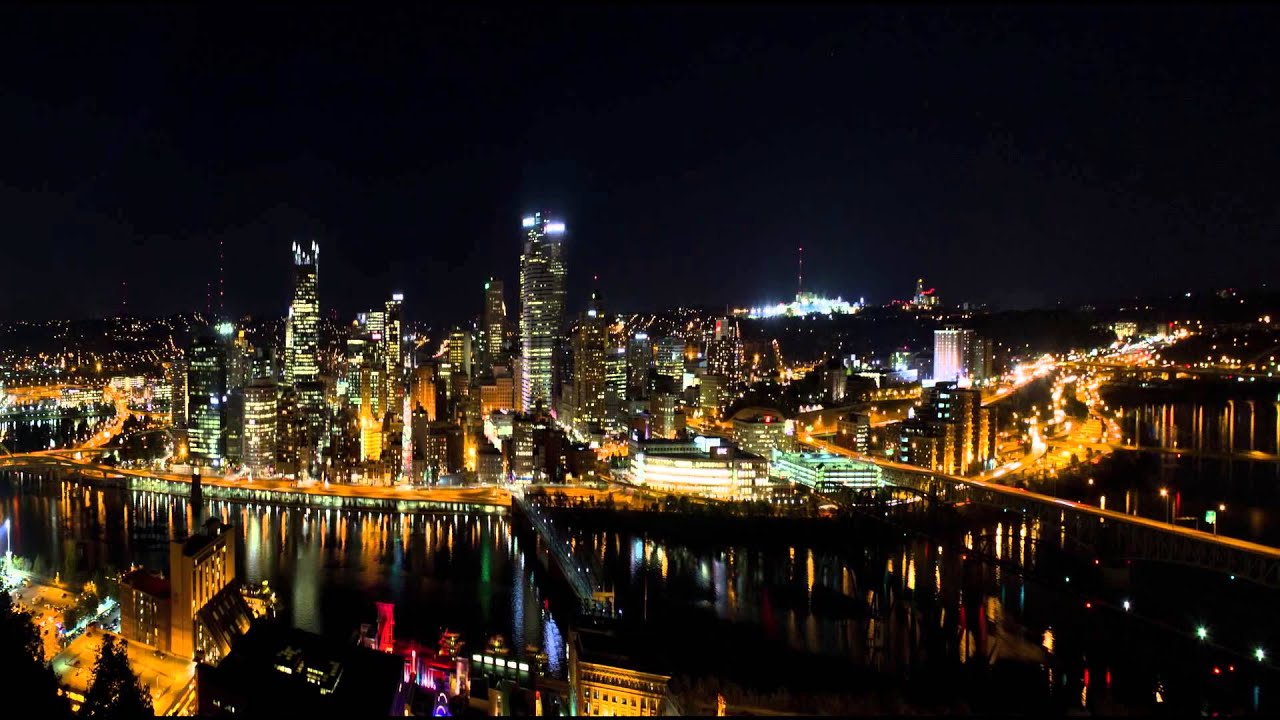 Pittsburgh Steelers Wallpaper Hd Pittsburgh Pennsylvania Night Skyline Youtube