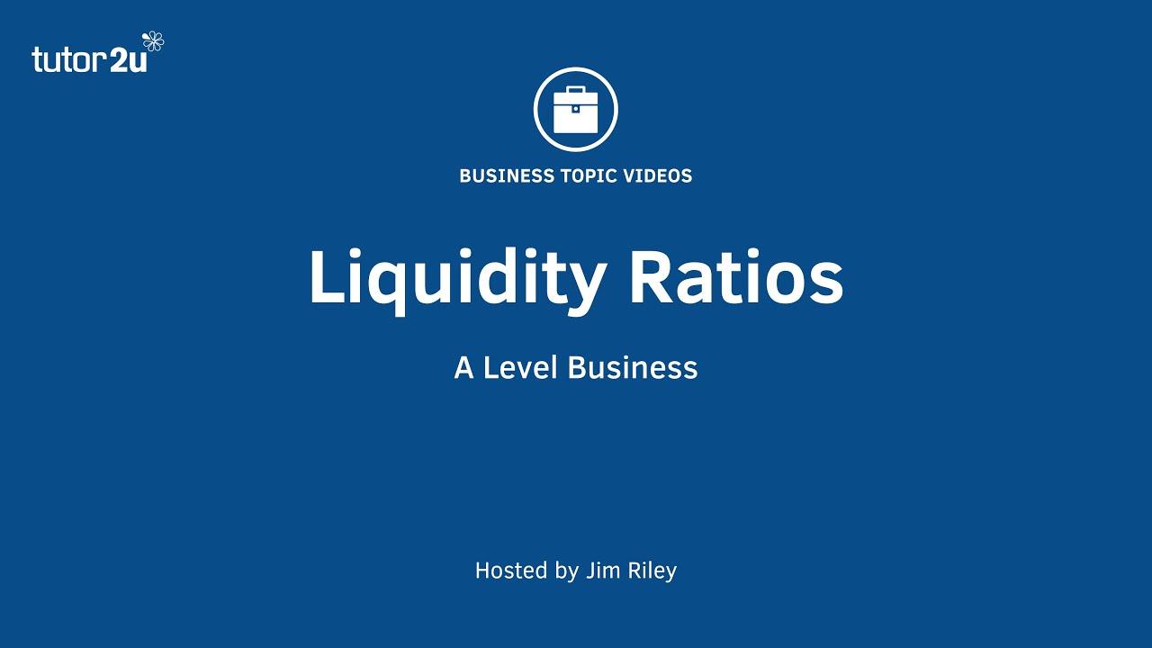 Acid Test Ratio | Business | tutor2u