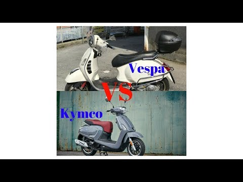 HOT NEWS!!!  Comparison  KYMCO Like i VS  Vespa GTS