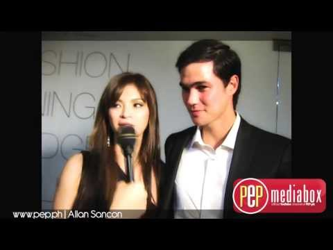 Angel Locsin and Phil Younghusband on the premiere night of 4 Sisters and a Wedding
