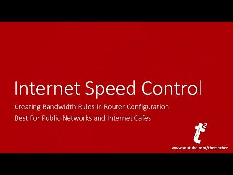 How to Control Internet Download and Upload Speed Over Network