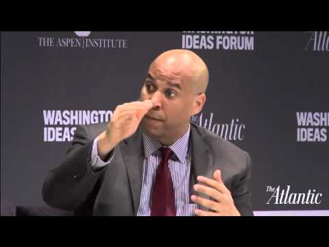 Cory Booker and Mike Lee / Washington Ideas Forum