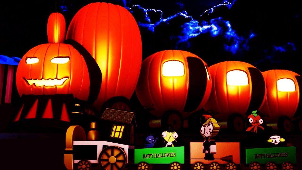 Halloween Train - Toy Factory - Train Cartoon for Children - Happy Halloween - Videos for Children