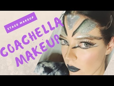 Coachella Inspired Makeup FOR STAGE  -  Dance Makeup Tutorial