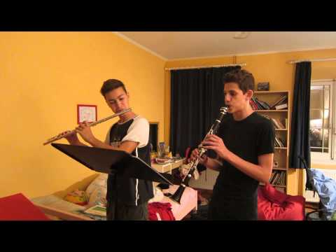DD's chamber music - clarinet Petros A., flute Daniel D. (composed by Daniel D.)