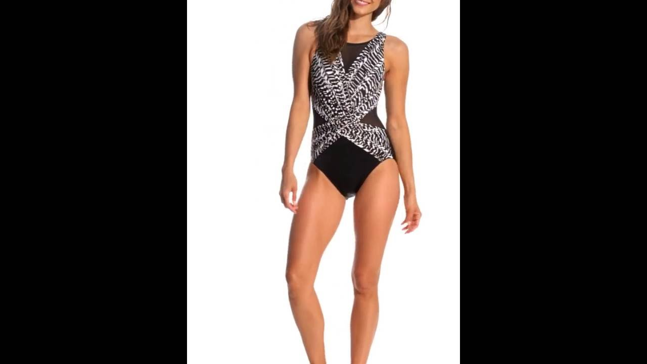 29ef4ca2aa80c Miraclesuit Between the Pleats Soft Cup One Piece Swimsuit   SwimOutlet.com