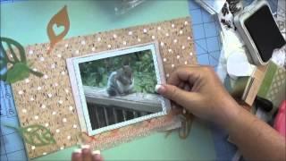 Scrapbooking Process Video #25 Hello Mr Squirrel