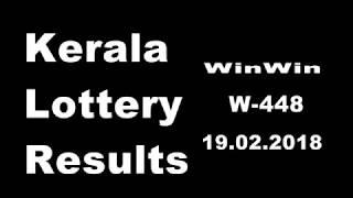 winwin 19.02.2018 Kerala Lottery Results W-448 winner