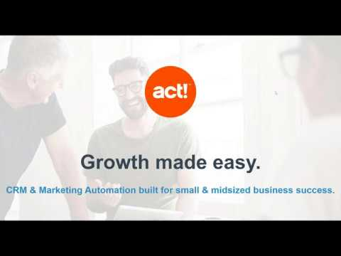 Act Growth Suite - Sales And Marketing Software
