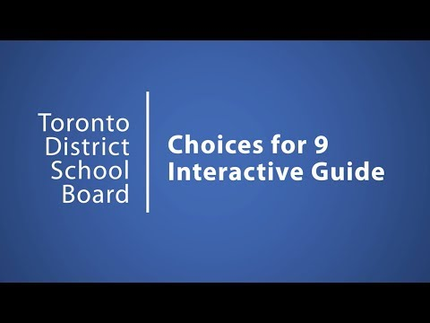 Welcome | Choices | TDSB