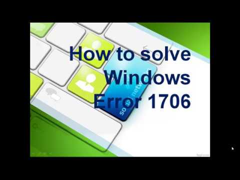 How to Solve Windows Error 1706