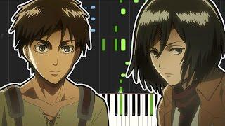 Shingeki no Kyojin OP2 - Jiyuu no Tsubasa ( Piano Tutorial )