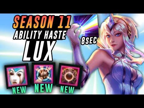 SEASON 11 ABILITY HASTE LUX HAS AN 8 SECOND ULT?! - League of Legends