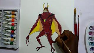 how to draw ben 10 Alien Jetray