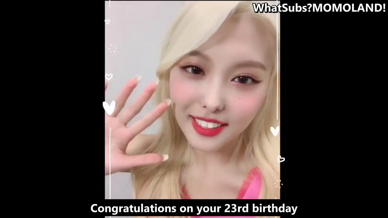 [ENG SUB] Momoland Nayun 2020 Birthday Video