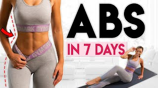 постер к видео GET SHREDDED ABS in 7 Days (flat belly challenge) | 10 minute Workout