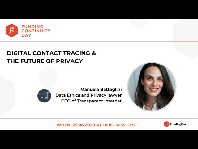 Digital contact tracing & the future of privacy
