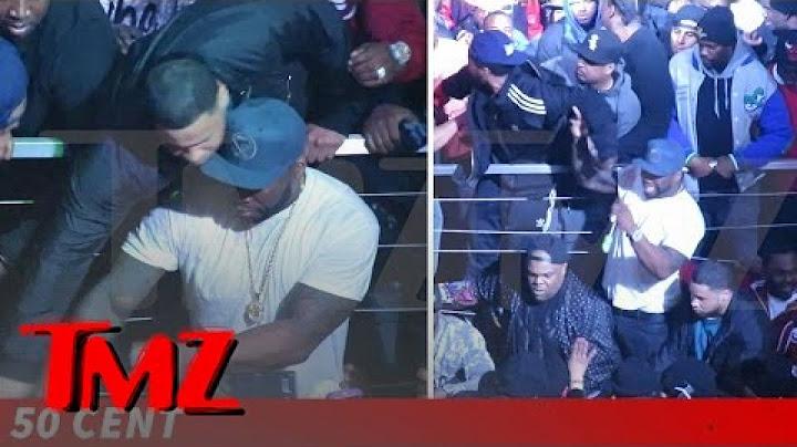 50 cent keeps cool mostly as club gig gets violent  tmz