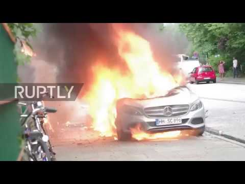 Germany: Cars set ablaze in Hamburg amid anti-G20 protests