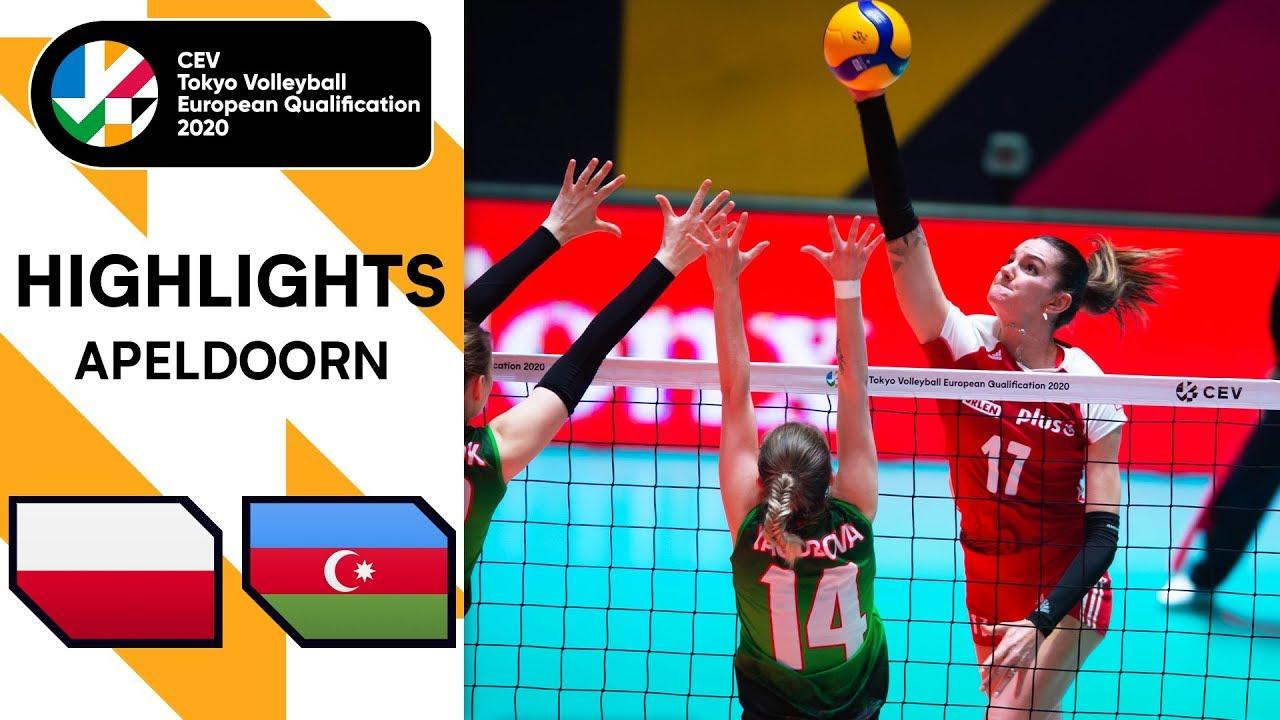 Poland vs. Azerbaijan - Highlights | CEV Women's Tokyo Volleyball Qualification 2020