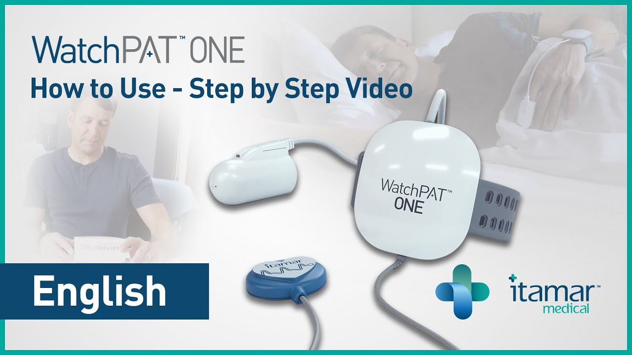 WatchPAT ONE Home Sleep Apnea Test - How to Use