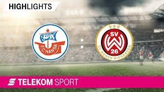 Hansa Rostock – SV Wehen Wiesbaden | Spieltag 3, 18/19 | Telekom Sport