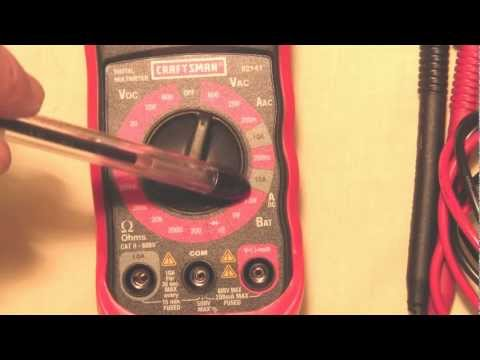 How to use  a Multimeter -  tutorial - KK4WW