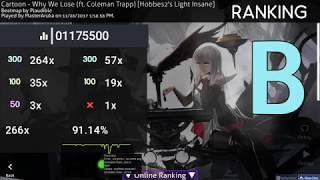 Cartoon - Why We Lose (ft. Coleman trapp) Osu! live gamplay