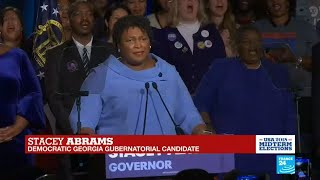 US Midterms: Democratic Georgia Gubernatorial candidate Stacey Abrams addresses supporters