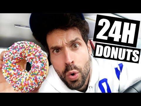 JE MANGE QUE DES DONUTS PENDANT 24H - HUBY