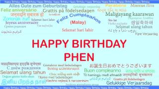 Phen   Languages Idiomas - Happy Birthday