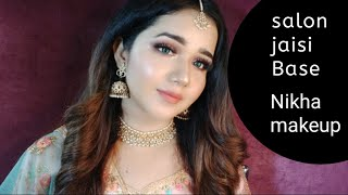 Engagement makeup step by step with beautiful hairstyle | how to set maang teeka salon jsi base