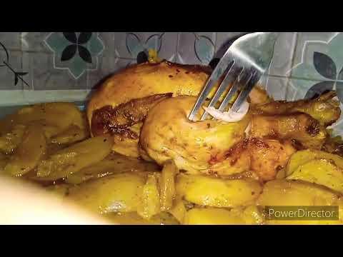 #دجاجة-مصلية-محمرة-في-فرن-ليلة-رأس-السنة-بنة-على-بنة