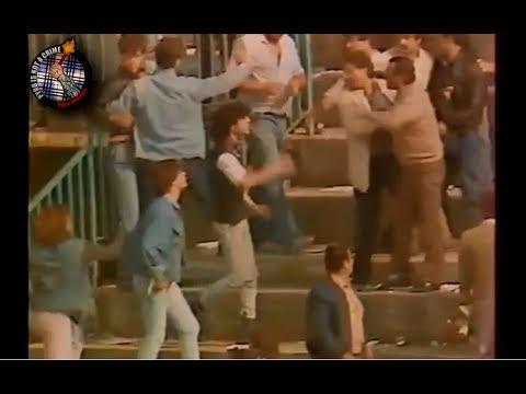 AEL Larissa - Panathinaikos 1986  Riots  //  Pyro-Greece