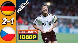 Германия Чехия 2 1 Обзор Матча Финал Чемпионата Европы 30 06 1996 HD
