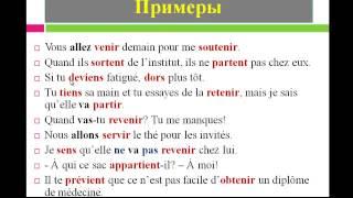 """Уроки французского #38: Глаголы """" venir"""", """" partir """" и подобные им глаголы в настоящем времени"""