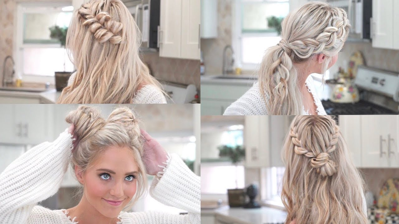 Hair Styles With Braids: MY 10 FAVORITE EVERYDAY BRAIDED HAIRSTYLES!!