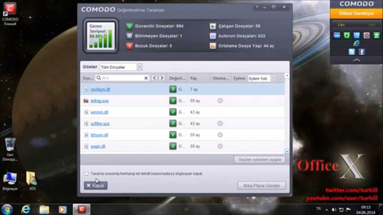 Comodo Firewall Free Kurulum Ve Kullanımı