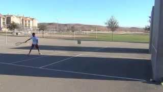 Tennis Backboard Rally Test